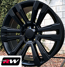 20 inch Chevy Avalanche Factory Style Denali Wheels 2017 2018 Satin Black Rims