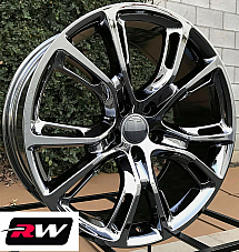 20 inch RW Wheels for Jeep Grand Cherokee 20x10 PVD Dark Chrome SRT8 Rims Spider