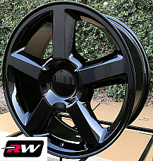 20 inch 20 x8.5 Wheels for Chevy Avalanche LTZ Gloss Black Rims