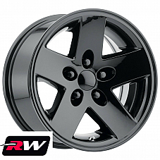 16 RW Wheels for Jeep Wrangler TJ 16 x8 Gloss Black Rims 5x4.50 ET 0 4.50 bs