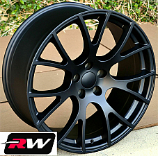 20x9 20x10 Wheels for Dodge Challenger Matte Blac Rims SRT Hellcat 5x115