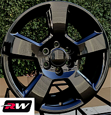 20 inch Chevy Avalanche Factory Style Wheels 5652 Gloss Black Rims 6x139.7 +27