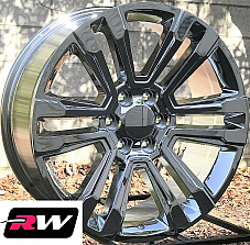 20 inch Chevy Avalanche Factory Style Denali Wheels 2017 2018 Chrome Rims 6x5.50