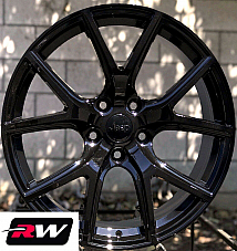 Jeep Grand Cherokee OE Replica Wheels 20x10 Gloss Black SRT Night Rims 5x127 +50