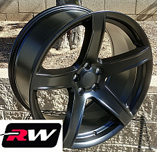 20 x 9.5Hellcat 5 HC2 SRT Style Satin black fit Challenger fit Charger Wheels