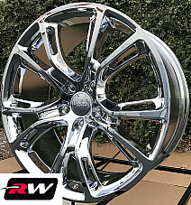 20 Jeep Grand Cherokee SRT8 OE Factory Replica Staggered Wheels Chrome Rims