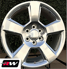 20 x9 inch Chevy Avalanche Factory Style Wheels 5652 Polished Aluminum Rims
