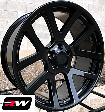 20 inch RW Wheels for Dodge Challenger 20x9 Dodge Viper Style Gloss Black Rims