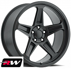 20 inch 20 x9.5 Wheels for Dodge Challenger Satin Black Rims 2018 SRT Demon