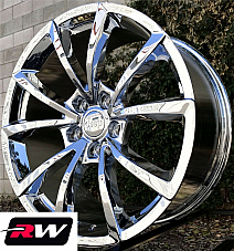 20 inch RW Wheels for Jeep Grand Cherokee 20x10 Chrome SRT Night Rims 5x5 +50
