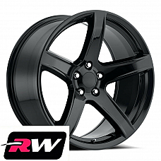 20 x 9.5Hellcat 5 HC2 SRT Style Gloss Black for Challenger Charger Wheels Rims