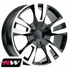 20 inch 20 x9 Wheels for Chevy Avalanche Black Machined RST Edition Rims