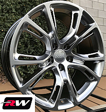 20 inch RW Wheels for Grand Cherokee SRT8 Spider Monkey 20x10 Hyper Silver Rims