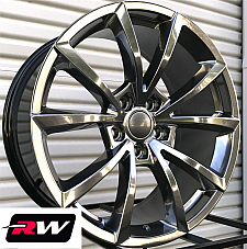 20 inch RW Wheels forJeep Grand Cherokee Hyper Silver 20x9 20x10 Staggered Rims