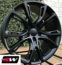 20 inch RW Wheels for Grand Cherokee SRT8 Spider Monkey 20x10 Matte Black Rims
