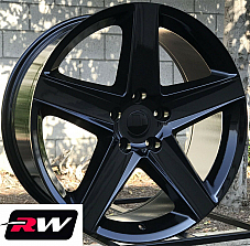 20 inch RW Wheels for Dodge Durango Gloss Black Grand Cherokee SRT8 20x9 Rims