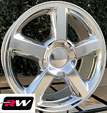 20 inch 20 x8.5 Wheels for Chevy Avalanche Polished Aluminum LTZ Rims